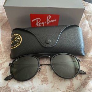 Ray-Ban Black Double-Bridged Sunglasses